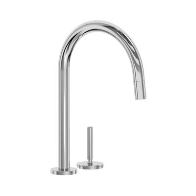 One Pull Down Touch Single Handle Kitchen Faucet Finish: Chrome