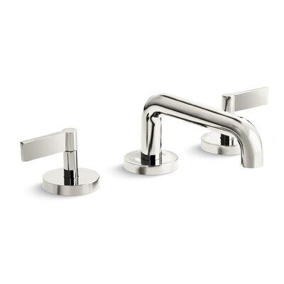 One Widespread Double Handle Bathroom Faucet Finish: Nickel Silver