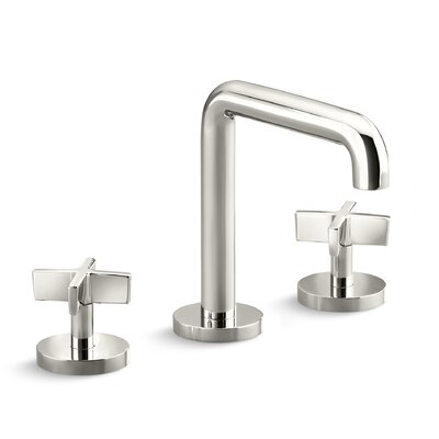 One Widespread Double Handle Bathroom Faucet Finish: Brushed Nickel