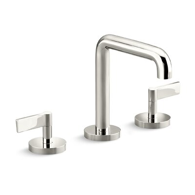 One Widespread Double Handle Bathroom Faucet Finish: Nickel Silver