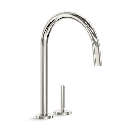 One Pull Down Touch Single Handle Kitchen Faucet Finish: Nickel Silver