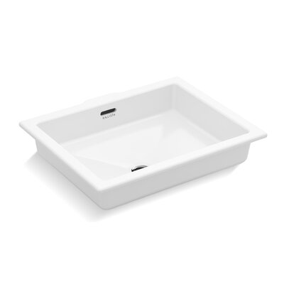 Perfect Centric Rectangle Undermount Bathroom Sink with Overflow