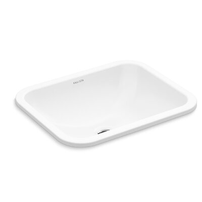Perfect Soft Rectangle Undermount Bathroom Sink with Overflow