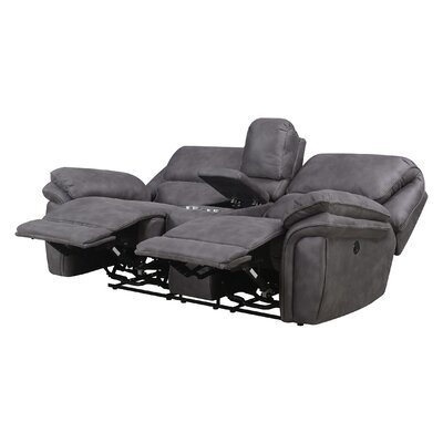 Cannaday Reclining Loveseat Recliner Mechanism: Power Recline