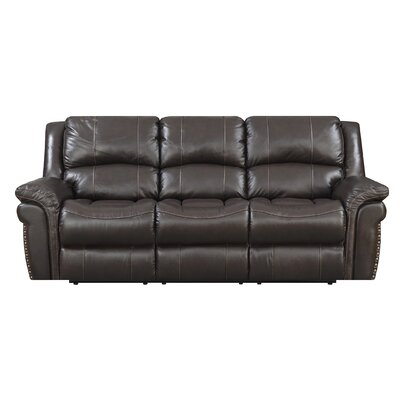 Everardo Leather Reclining Sofa DRBH2881 44336432