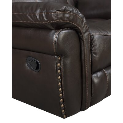 Everardo Leather Manual Rocker Recliner