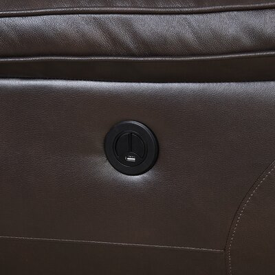 Rish Leather Reclining Sofa Recliner Mechanism: Power Recline