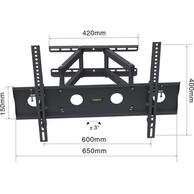 Swivel 50 LED and Plasma Wall Mount