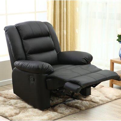 Ngyuen Manual Recliner Upholstery: Black