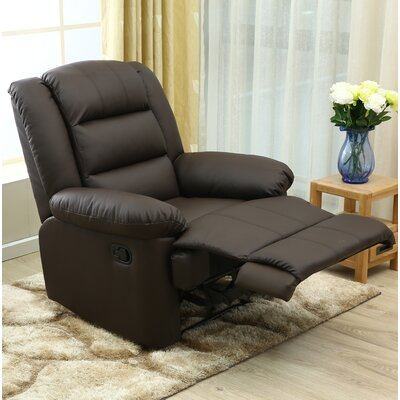 Ngyuen Manual Recliner Upholstery: Brown