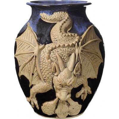 Kaja 3-D Angry Dragon Floor Vase