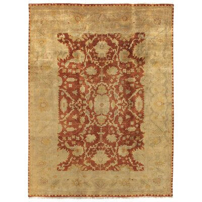 Anatolian Oushak Hand-Knotted Wool Red/Gold Area Rug Rug Size: Rectangle 14 x 18