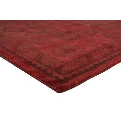 Overdyed Hand-Knotted Wool Red Area Rug Rug Size: Rectangle 8 x 10