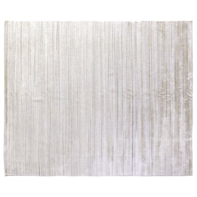 Sanctuary Hand Woven Silk Ivory Area Rug Rug Size: Rectangle 9 x 12
