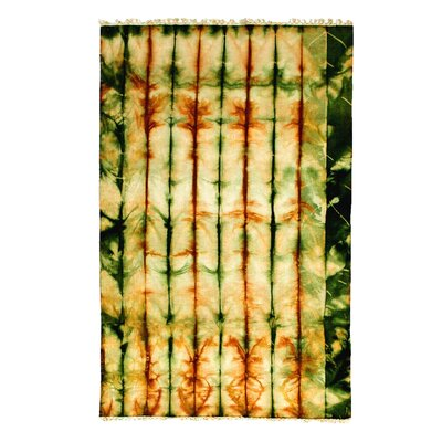 Flat Weave Hand-Woven Wool Yellow/Green Area Rug