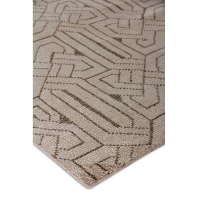 Prague Hand-Woven Ivory Area Rug Rug Size: Rectangle 9 x 12