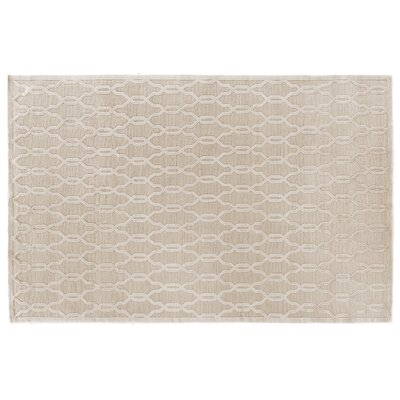 Harmony Hand Knotted Wool/Silk Light Beige Area Rug Rug Size: Rectangle 8 x 10