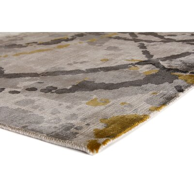 Koda Han-Woven Gold/Gray Area Rug Rug Size: Rectangle 10 x 14