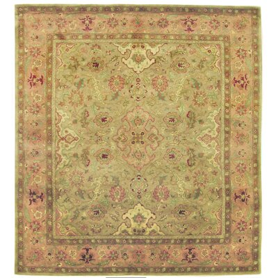 Polonaise Hand Knotted Wool Beige/Pink Area Rug Rug Size: Rectangle 14 x 18