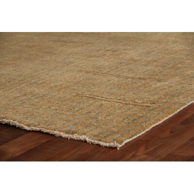 Metropolitan Hand-Knotted Wool Beige/Light Blue Area Rug Rug Size: Rectangle 10 x 14