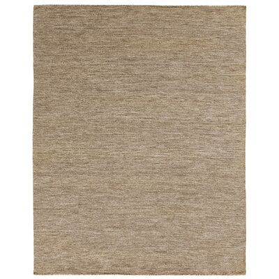 Hand-Woven Wool Brown Area Rug Rug Size: Rectangle 10 x 14