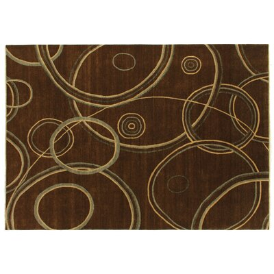 Metropolitan Hand-Knotted Wool Brown Area Rug Rug Size: Rectangle 9 x 12