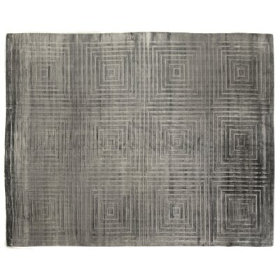 Embossed Hand Woven Silk Blue/Aqua Area Rug Rug Size: Rectangle 6 x 9