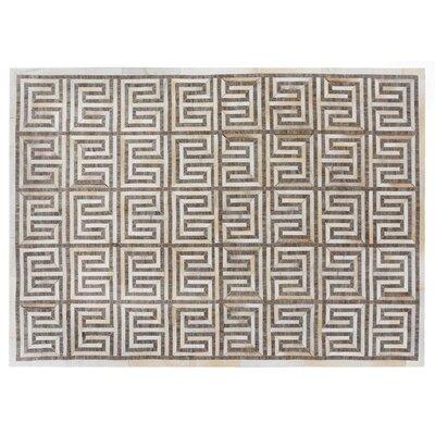 Berlin Beige/Ivory Area Rug Rug Size: Rectangle 12 x 15