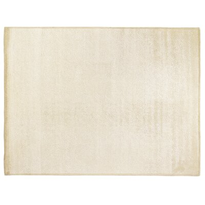 Mosaic Hand-Knotted Off White Area Rug Rug Size: Rectangle 9 x 12