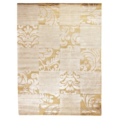 Super Tibetan Hand-Knotted Ivory/Beige Area Rug Rug Size: Rectangle 10 x 14