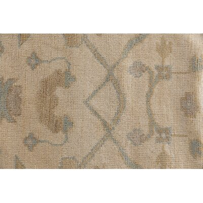 Oushak Hand-Knotted Wool Ivory Area Rug Rug Size: Rectangle 9 x 12