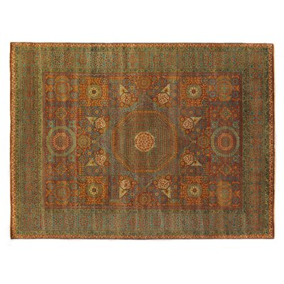 Mamluk Hand-Knotted Wool Rust Area Rug Rug Size: Rectangle 14 x 18