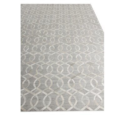 Berlin, Leather/Art Silk, Silver/Ivory/Multi (96x136) Area Rug Rug Size: Rectangle 5 x 8