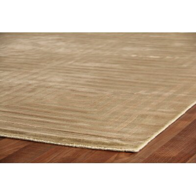 Embossed Hand Woven Silk Light Beige Area Rug Rug Size: Rectangle 10 x 14
