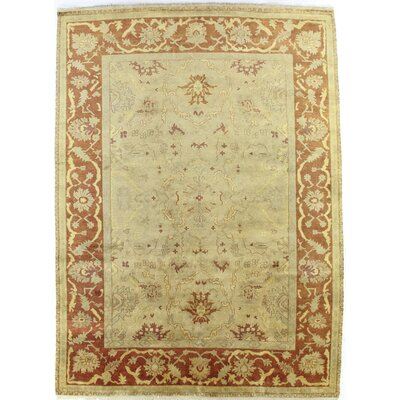 Anatolian Oushak Hand-Woven Wool Gold/Red Area Rug Rug Size: Rectangle 10 x 14