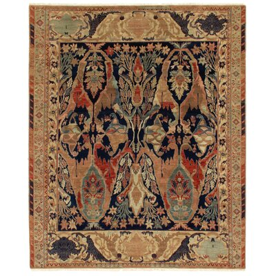Jurassic Hand-Knotted Wool Blue/Brown Area Rug Rug Size: Rectangle�8 x 10