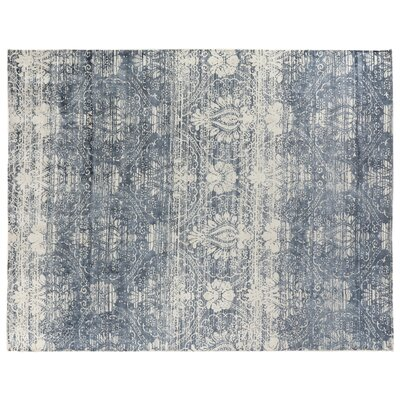 Koda Silk Blue Area Rug Rug Size: Rectangle 9 x 12
