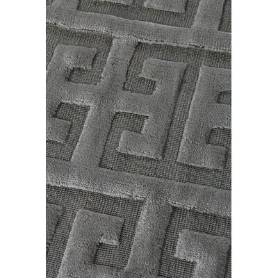 Kingsley Hand-Woven Charcoal Area Rug Rug Size: Rectangle 5 x 8