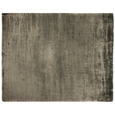 PurityHand-Woven Dark Gray Area Rug Rug Size: Rectangle 10 x 14