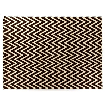 Hand-Woven Wool Beige/Mahogany Area Rug Rug Size: Rectangle 5 x 8