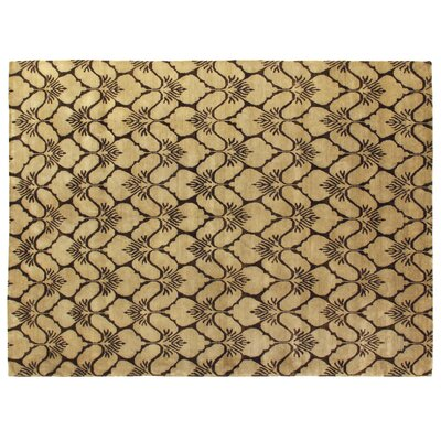 Metropolitan Hand Knotted Wool Brown/Ivory Area Rug Rug Size: Rectangle 6 x 9