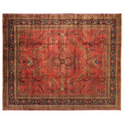 Traditional Hand Woven Wool Red Area Rug