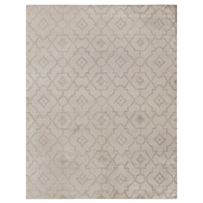 Samara Hand-Woven Silk Beige Area Rug Rug Size: Rectangle 10 x 14