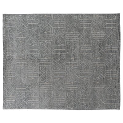 Prague Hand-Knotted Gray Area Rug Rug Size: Rectangle 6 x 9