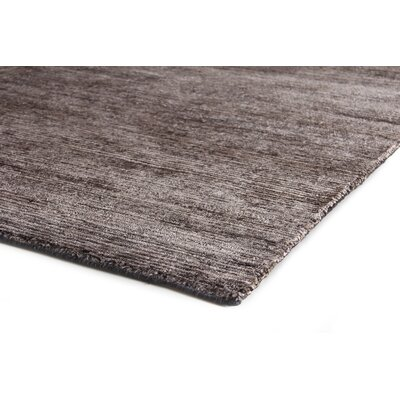 Crush Hand Knotted Silk Charcoal/Gray Area Rug Rug Size: Rectangle 10 x 14