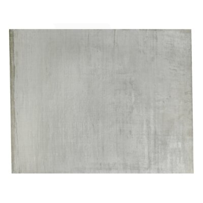 Plain Dove Hand-Knotted Silk Gray Area Rug Rug Size: Rectangle 6 x 9