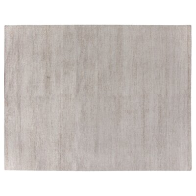 Perry Hand-Knotted Silk Light Gray Area Rug Rug Size: Rectangle 9 x 12