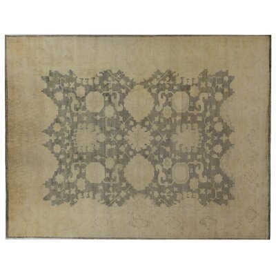 Oushak Hand Knotted Wool Blue/Gray Area Rug Rug Size: Rectangle 8 x 10