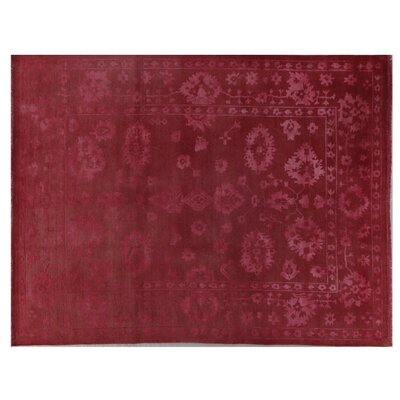 Overdyed Oushak Hand Knotted Wool Rust Area Rug