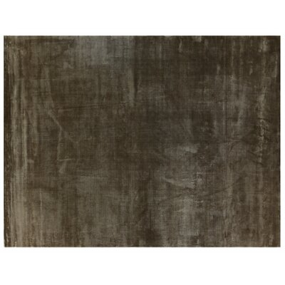 Plain Dove Hand-Woven Silk Chocolate Area Rug Rug Size: Rectangle 14 x 18